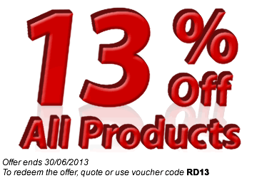 13% Off All Products
