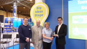 Being presented the Product Innovation Award